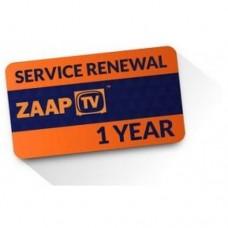 Service Renewal for ZaapTV - 1 year